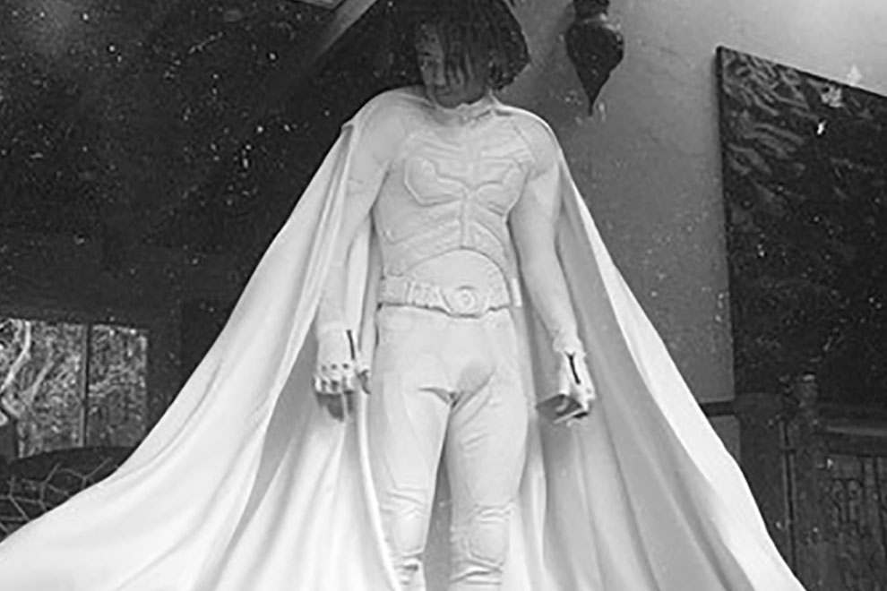 jaden smith explains the batman costume he wore at kim and kanyes wedding