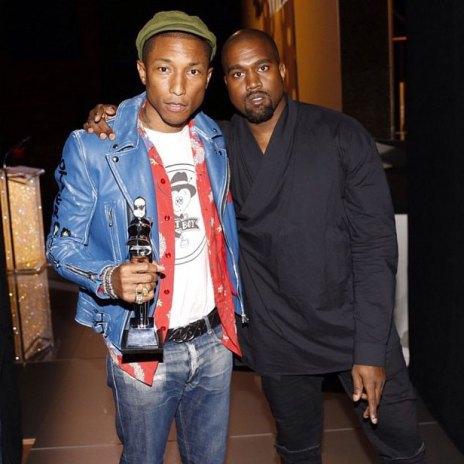 "Kanye West Presents Pharrell Williams His CFDA ""Fashion Icon"" Award"