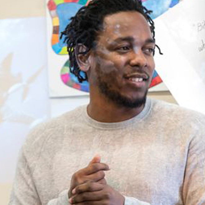 Watch Kendrick Lamar Visit a New Jersey High School and Rap With Students