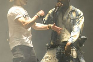 Watch a Stage Crasher Interrupt Kanye West's Glastonbury Set