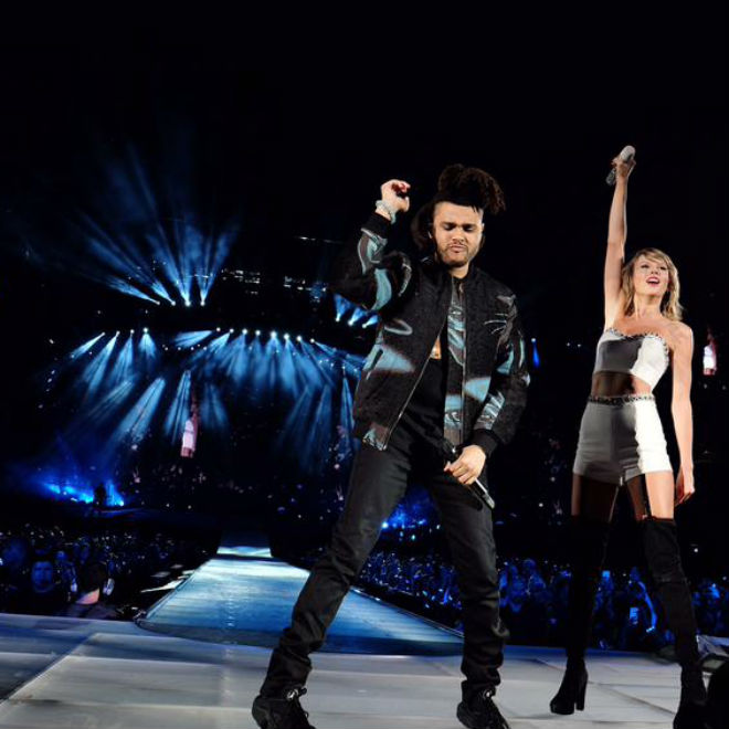 "Taylor Swift Brings Out The Weeknd to Perform ""Can't Feel My Face"""