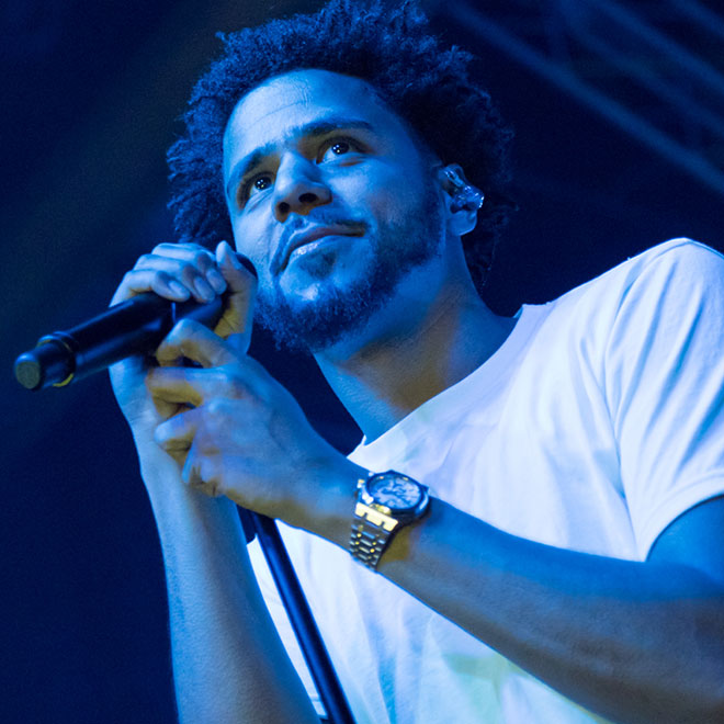 J. Cole Hit in the Face With an iPhone During Concert