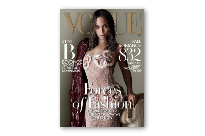beyonce makes history with cover of vogues september issue