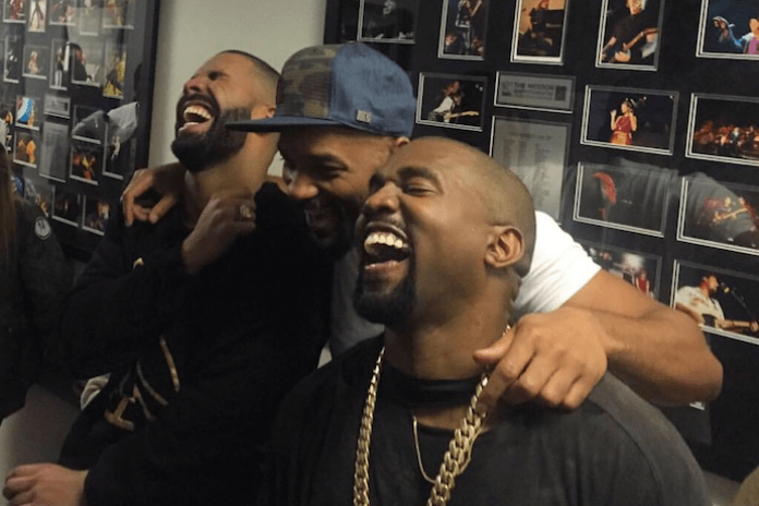 Kanye West, Will Smith and Drake Share a Giggle Over Memes