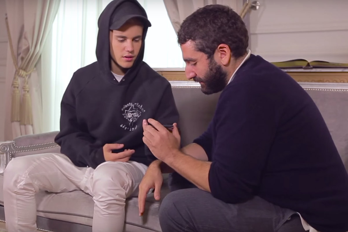 "Justin Bieber on Kanye West: ""I Just Sit and Listen Because He's Really Smart"""