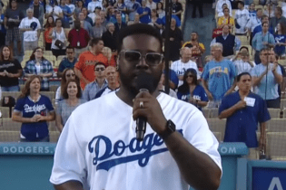 T-Pain Sings National Athem Without Auto-Tune