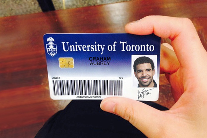 theres an instagram account of drake as a uoft student