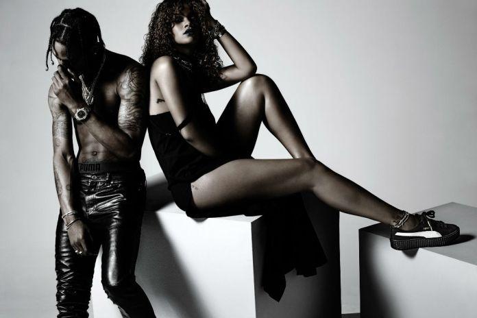 Travi$ Scott Appears in Rihanna's New PUMA Ad