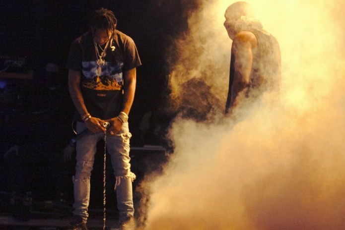 Watch Kanye West Perform with Travi$ Scott and Vic Mensa at Summer Ends