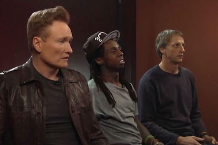 Watch Lil Wayne Play 'Tony Hawk's Pro Skater 5' with Conan O'Brien & Tony Hawk
