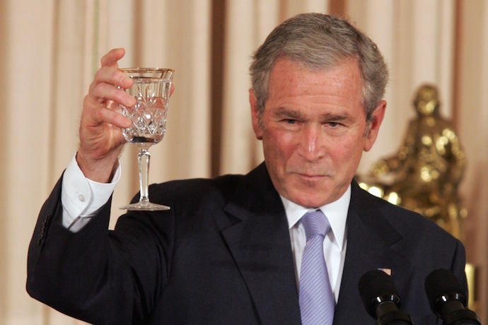 George W. Bush Reacts to Kanye West's Presidential Bid