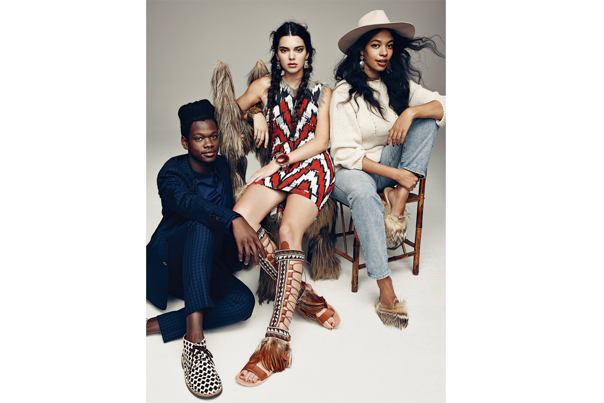 kendall jenner poses with jaden smith tinashe shamir in new photoshoot