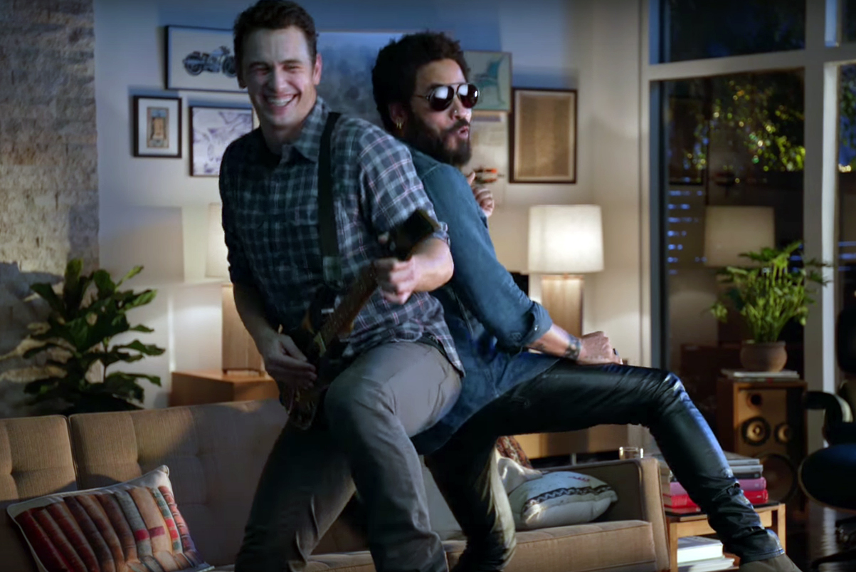 Watch James Franco & Lenny Kravitz in Guitar Hero's New Commercial