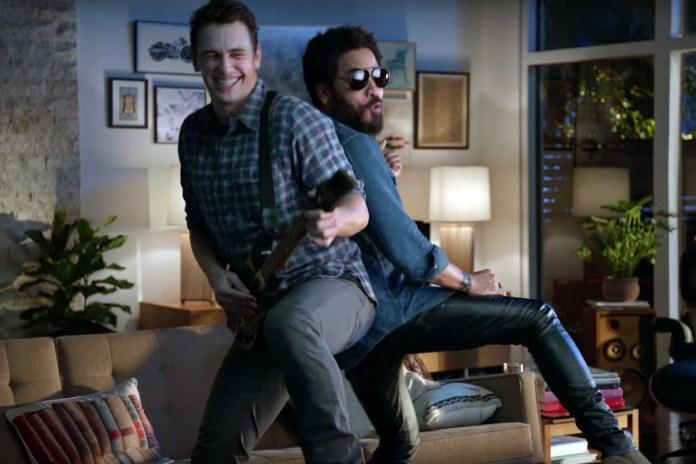 Watch James Franco & Lenny Kravitz in Guitar Hero's New Commercial