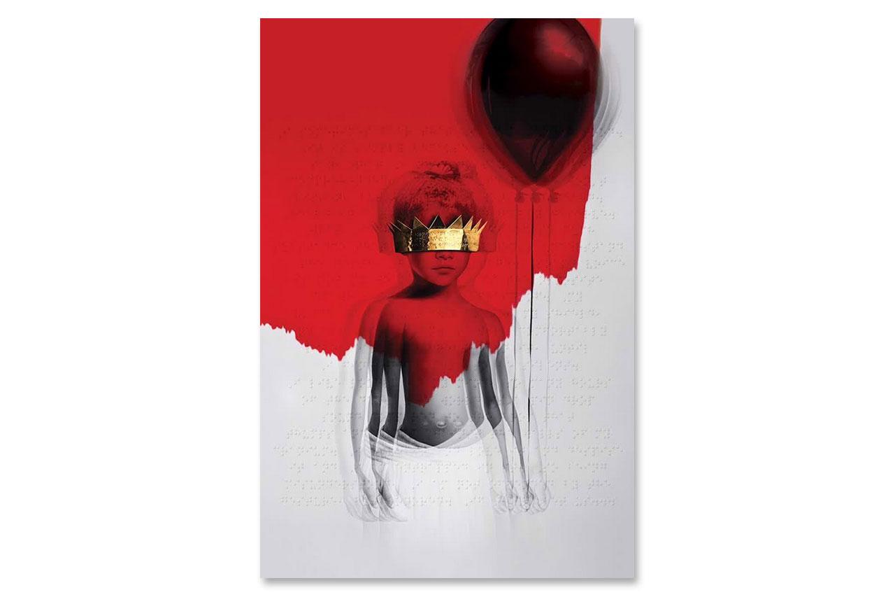 rihanna unveils artwork for her eight studio album