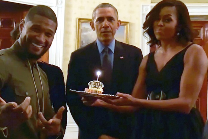 "Watch Barack and Michelle Obama Sing ""Happy Birthday"" to Usher"