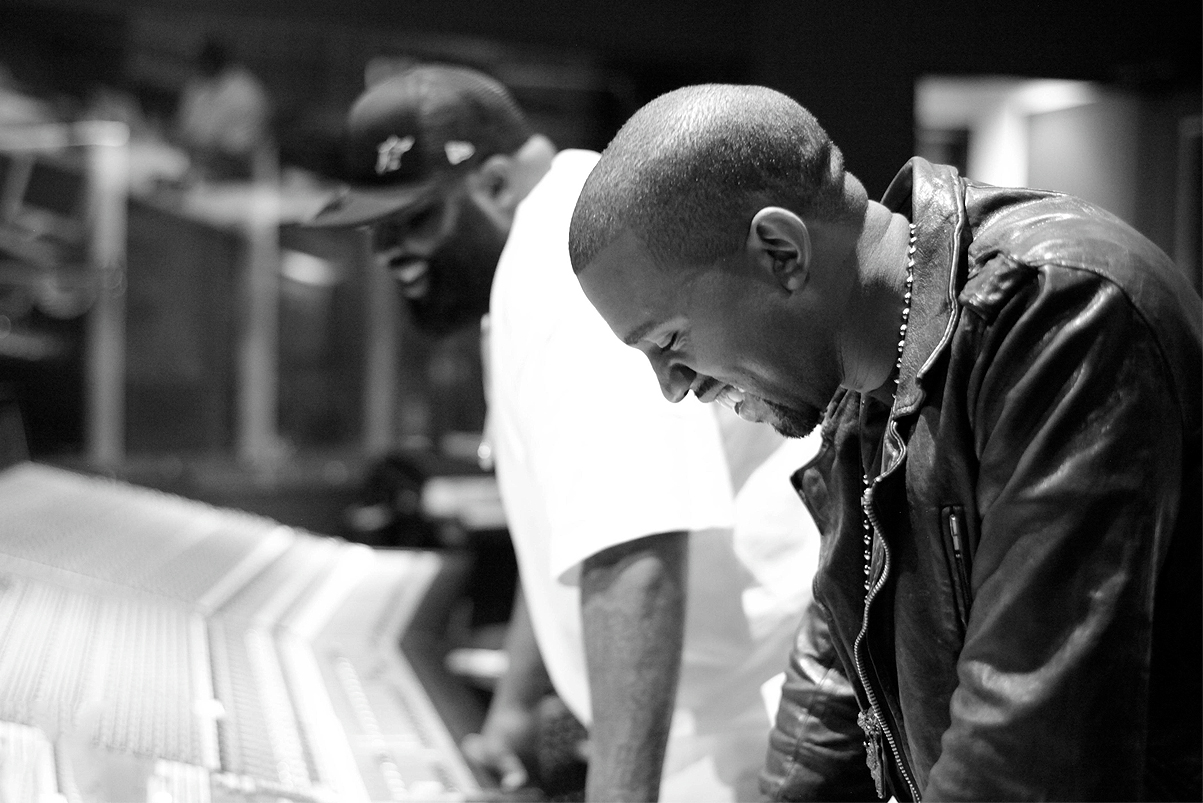kanye west gives a behind the scenes look at his music writing process