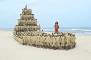 "M.I.A. ""Borders"" Video Features a Pyramid of Refugees"