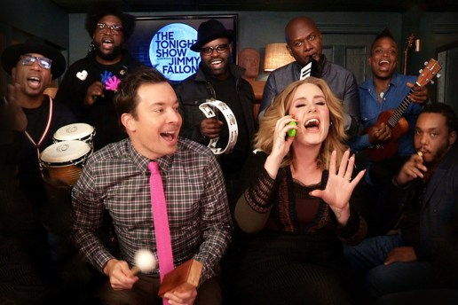 "Watch Adele & The Roots Perform ""Hello"" with Toy Instruments"