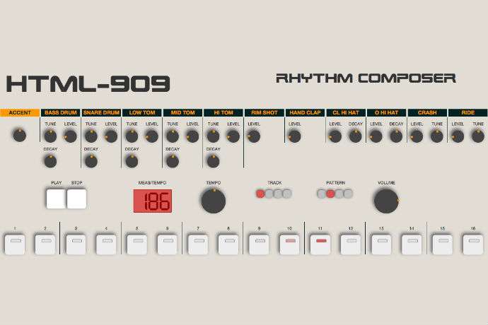Play a Roland 909 Drum Machine in Your Browser