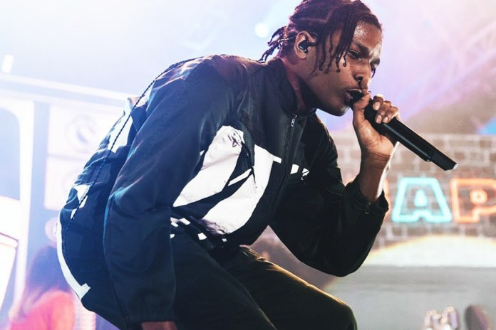 "UPDATE: A$AP Rocky Performs New Song Called ""Yamborghini High"""