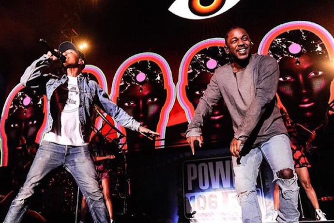 Pharrell Brings Out Kendrick Lamar at The Cali Christmas Concert