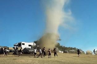 Watch Festivalgoers Dance Inside a Tornado