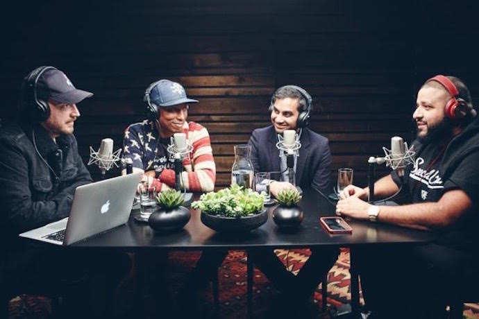 DJ Khaled Gives Aziz Ansari the Keys to Success on Pharrell's Beats 1 Show