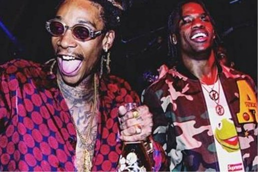 "Travi$ Scott, Wiz Khalifa & Juicy J Link up for ""Bake Sale"""