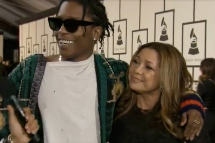 A$AP Rocky Brings A$AP Yams' Mom as His GRAMMY Date