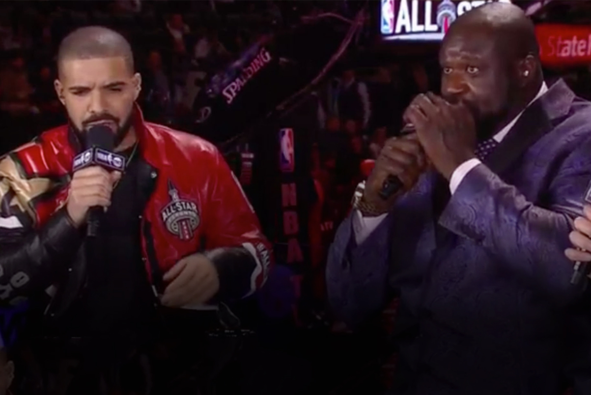 "Drake Raps ""Back To Back"" to Shaquille O'Neal's Beatboxing"