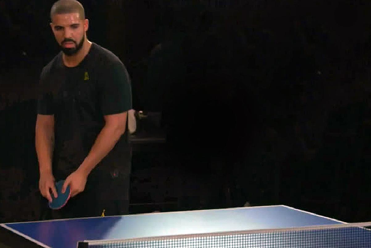 Watch Drake Play Ping Pong Against Reggie Miller