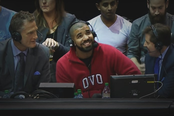 Drake Sits in With the Toronto Raptors Announcers