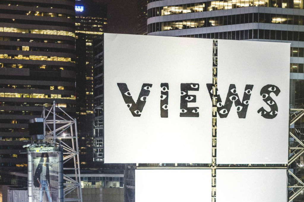 drake views from the six billboard toronto