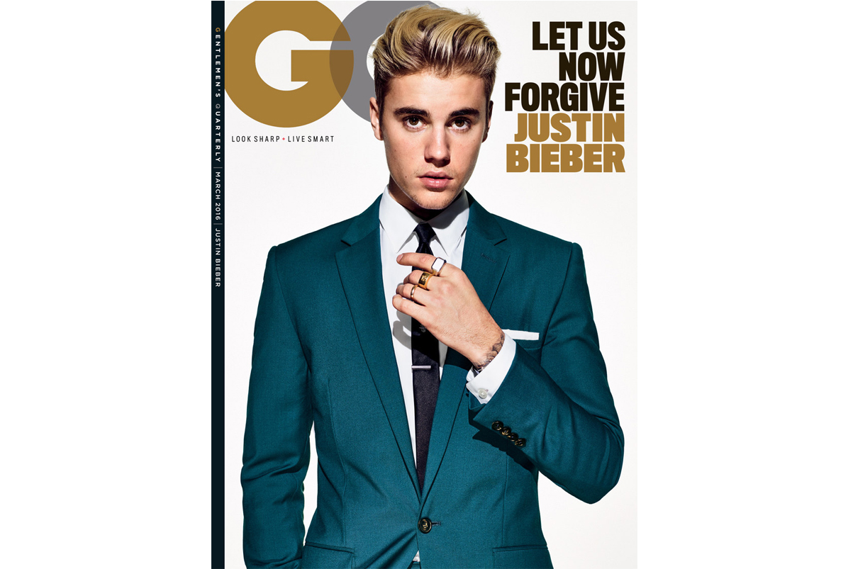 justin bieber gq march cover