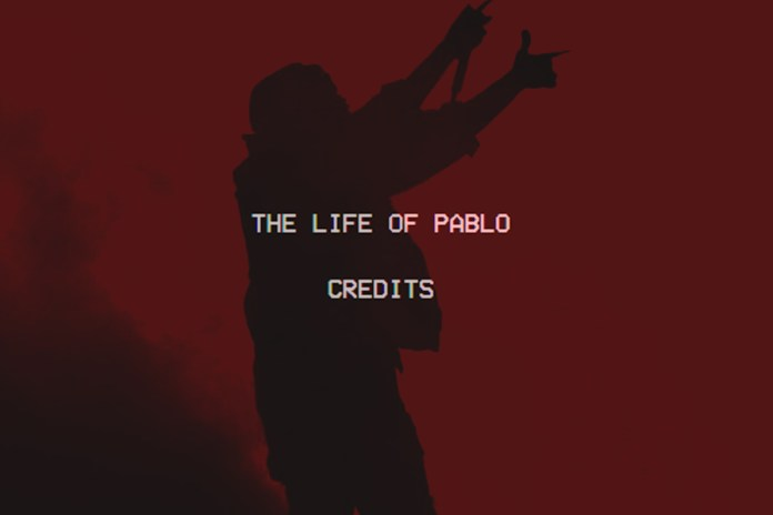 Kanye West Releases Full 'The Life of Pablo' Credits