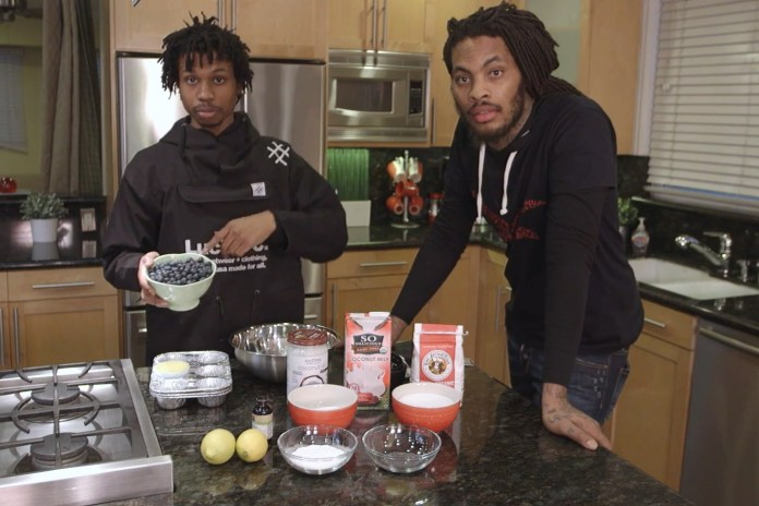 Waka Flocka Flame & Raury Whip Up Vegan Blueberry Muffins