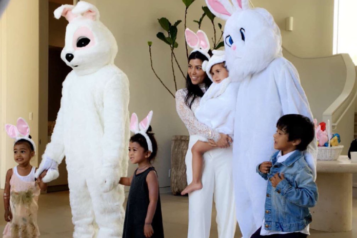 Kanye West and Tyga Dressed up as Bunnies for Easter