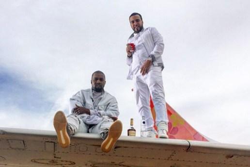 Kanye West & French Montana Wear New Yeezy Boosts