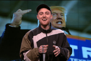 "Mac Miller Disses Donald Trump on ""The Nightly Show"""