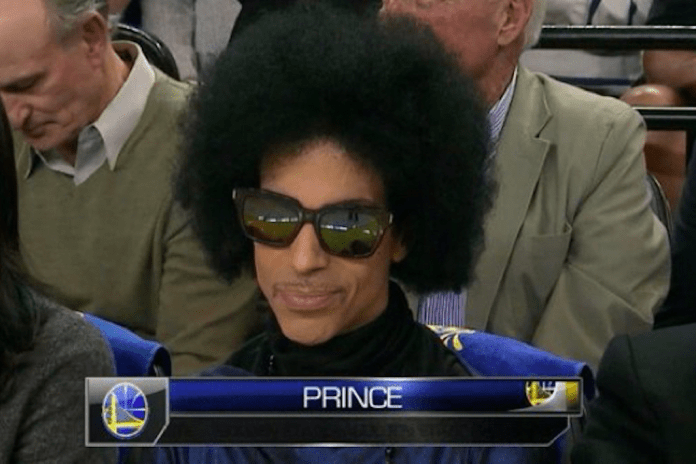 Prince Spotted Courtside at Golden State Warriors Game