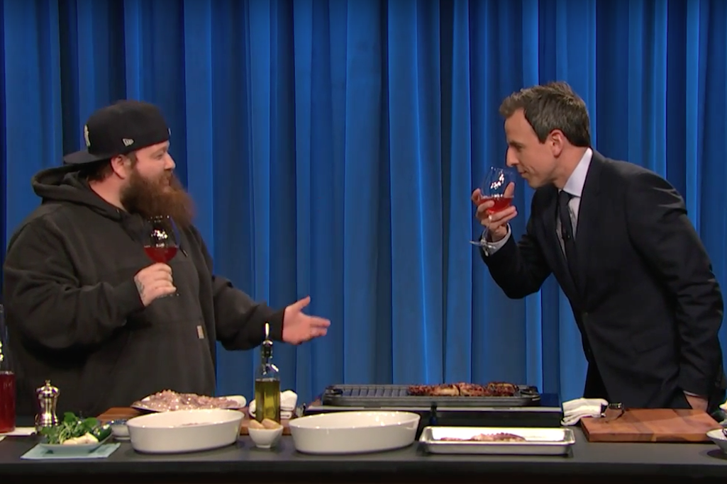 Action Bronson Cooks an Octopus on Late Night with Seth Meyers