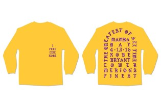 "You Can Now Purchase Kanye West's ""I Feel Like Kobe"" Shirt"