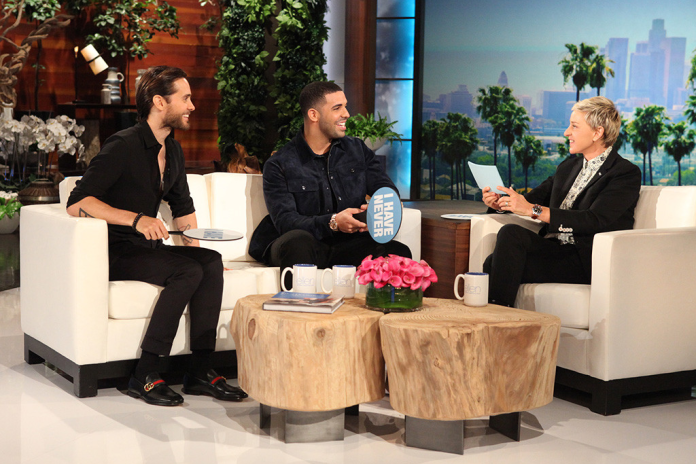 Watch Drake Play 'Never Have I Ever' with Jared Leto on The Ellen Show