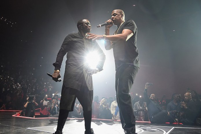 JAY Z Gets Brought out by Puff Daddy at Bad Boy Reunion Concert