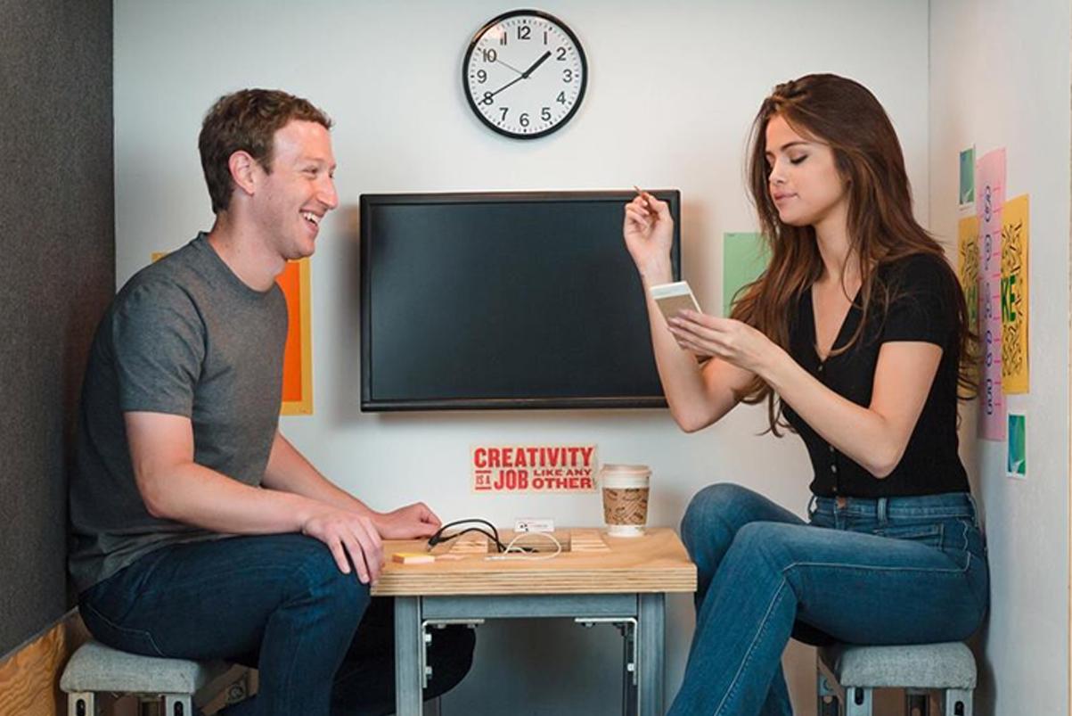 mark zuckerberg selena gomez facebook instagram