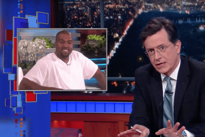 Stephen Colbert Parodies Kanye West's 'Ellen' Speech