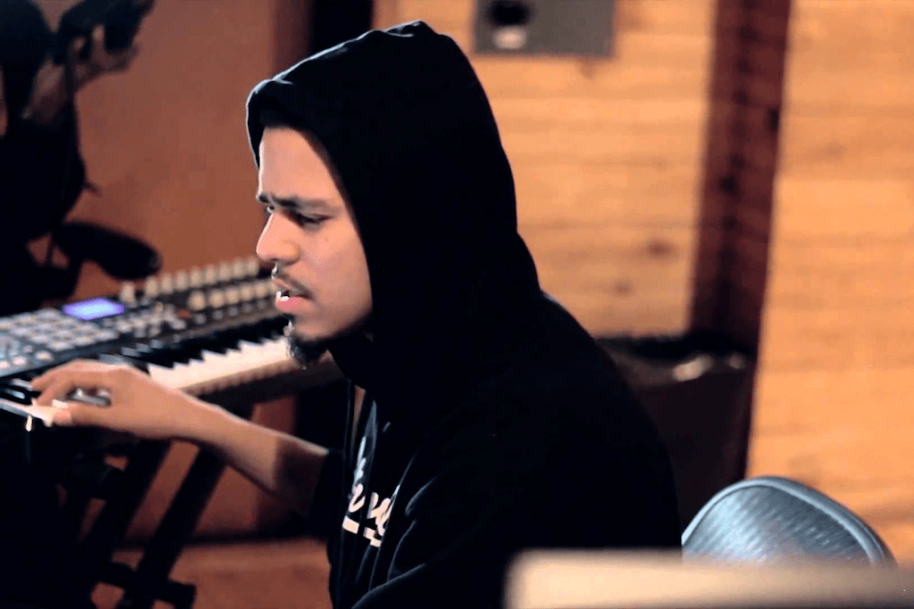 J. Cole Crafts a Beat While on His Tour Bus