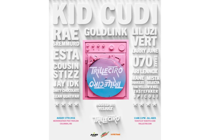 Trillectro Music Festival 2016 Lineup Features Kid Cudi, Rae Sremmurd, Lil Uzi Vert, GoldLink, Esta, and More