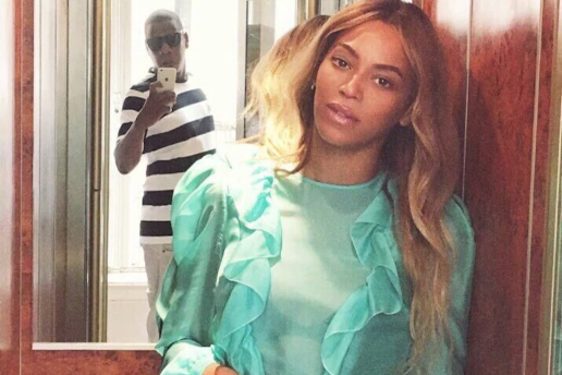 The Internet Goes in on Jay Z for His Pose While Taking a Photo of Beyoncé
